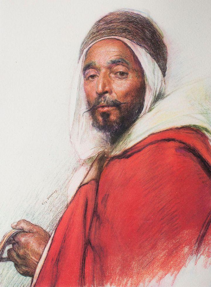 Pastel_26,_Algerian_Spahi,_Mohamed_Osman_from_Oran